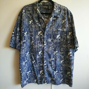 Hawaiian Shirt OP Sport Blue White